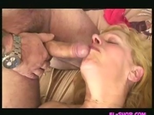 Busty mature European blonde!