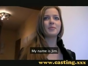 Adorable Babe Casting Audition first time Beautiful Creampie sex