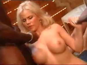 German porn idol Gina Wild being fucked by many men. There's much cum in this...