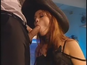 Krystal de Boor does sex with three men at private party