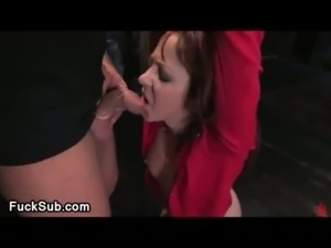 Scared babe gets rough assfucked free