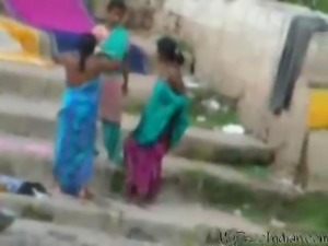 Desi Aunty Bath In River 3 indian desi indian cumshots arab