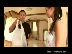 Asian Guy White Girl Interracial European free