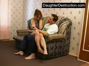 Daughters first rough fuck
