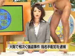 Japanese newscasters get their  ... free