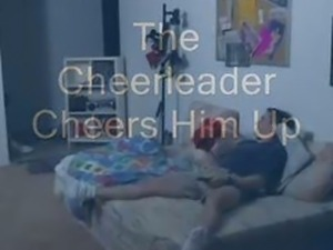 Cheerleader Cheers Up Kicker