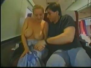 Blonde Groped on Train free