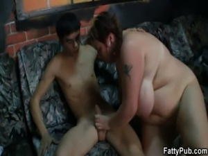 BBW takes it hard from behind free