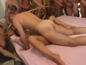 Orgy 1 girl vs 65 guys free