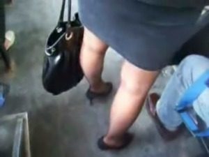 Sexy lady on the bus free