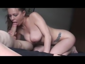 Girlfriend with big tits doing Hand