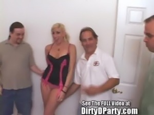 Dirty D Gives Jessica A Bukkake Initiation free