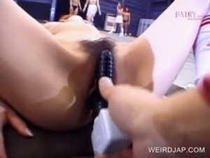Asian pussy gets vibed in public free