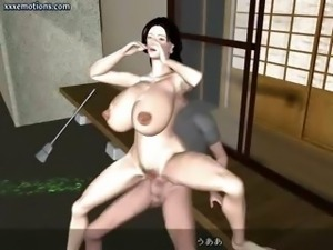 Animated wife with massive boobs