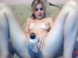 19 Year Old Blonde With A Vibrator