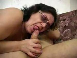 Chubby Granny in Glasses Fucks the Boy free