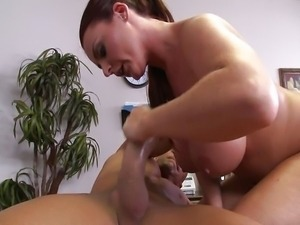 Sophie Dee. Let the tits do the cleaning