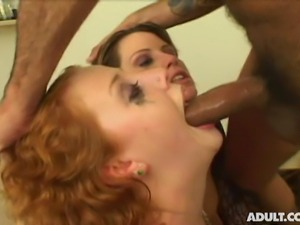 Cherry Poppens and Lisa Sparxxx get Fucked In The Head