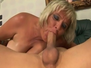 Blonde grandma is a complete whore