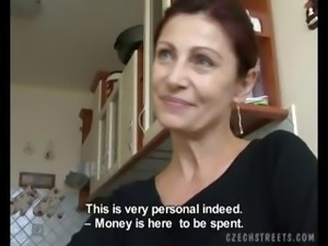 CZECH STREETS - MILF ALENA Sucks Dick for Cash
