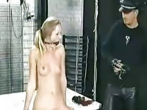 Slave Getting Needles Through Her Pussylips bdsm bondage slave femdom domination