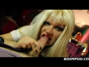 Femdom Starla pov jerks and sucks but denies her sub an orgasm