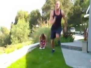 skeletal young girl has private trainer