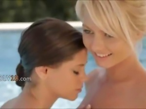 enchanting threesome by the pool