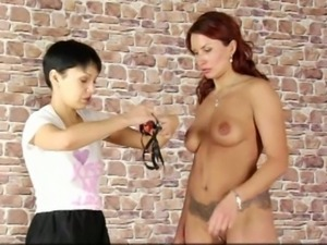 Lesson of submission for hot lady