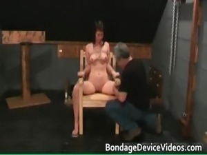Bondage sex video with cute chick tied part2