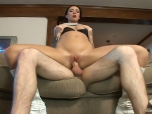 Hot brunette mommy banged hard