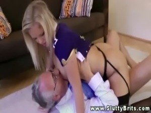 Young babe gets pussyfucked  by old man free