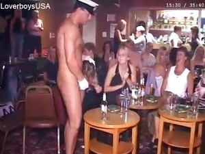 British sluts out of control w/ male stripper