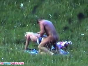 Here Is Amazing Amateur video of Caught while fucking outside