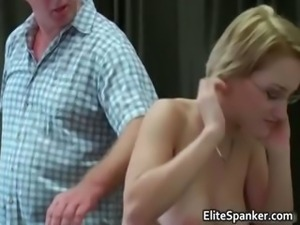 Busty blond babe with glasses gets