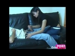 Pinay Handjob on a Sleeping Guy | CebuPorn.com free