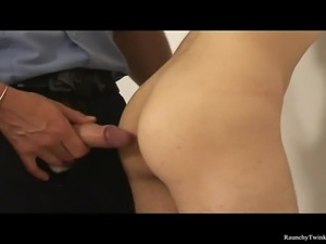 Cute brunette boy James gets arrested by the police for vagrancy. He was...