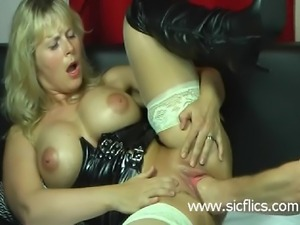 Blond wife violently fisted in her loose cunt