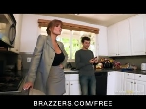 HOT big-tit redhead MILF slut saleswoman fucks client's hard-dick free