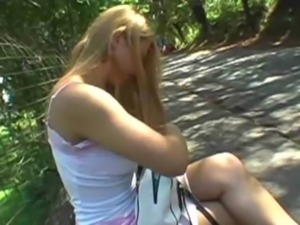 Sweet bombshell gets fucked in the park free