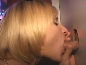 Anastasia's first trip to the gloryhole