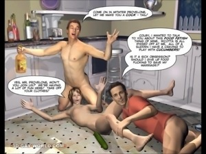 DESPERATE HUSBANDS 3D Bisexual MMF Cartoon Animated Comics
