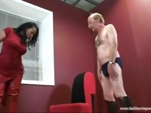 Ballbusting Danica Fitting Session