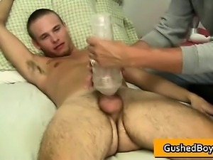 Gay clip of Cory gets his hard dick part5