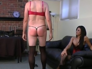 Sissy boy fucked with a strapon