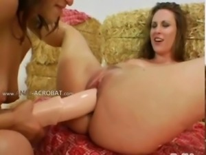 Amazing anus threesome fucking hard