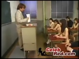 Class at Japanese Classroom Full Of Naked Schoolgirls End Up With Orgy class...