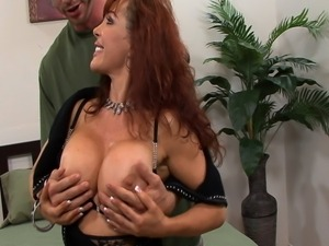 Sexy Vaness enjoys a lot of tasty cum in her mouth