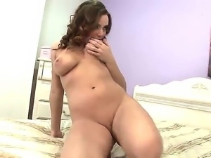 Appetizing babe Natasha Nice works out her gentle pussy with a vibrator...