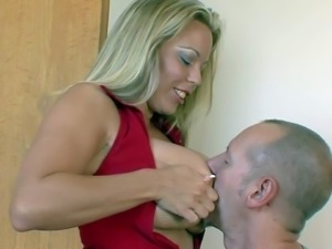 Amber Lynn Bach's huge boobs are amazing as well as